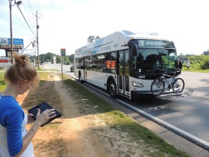 Clayton County bus route that lacks sidewalks