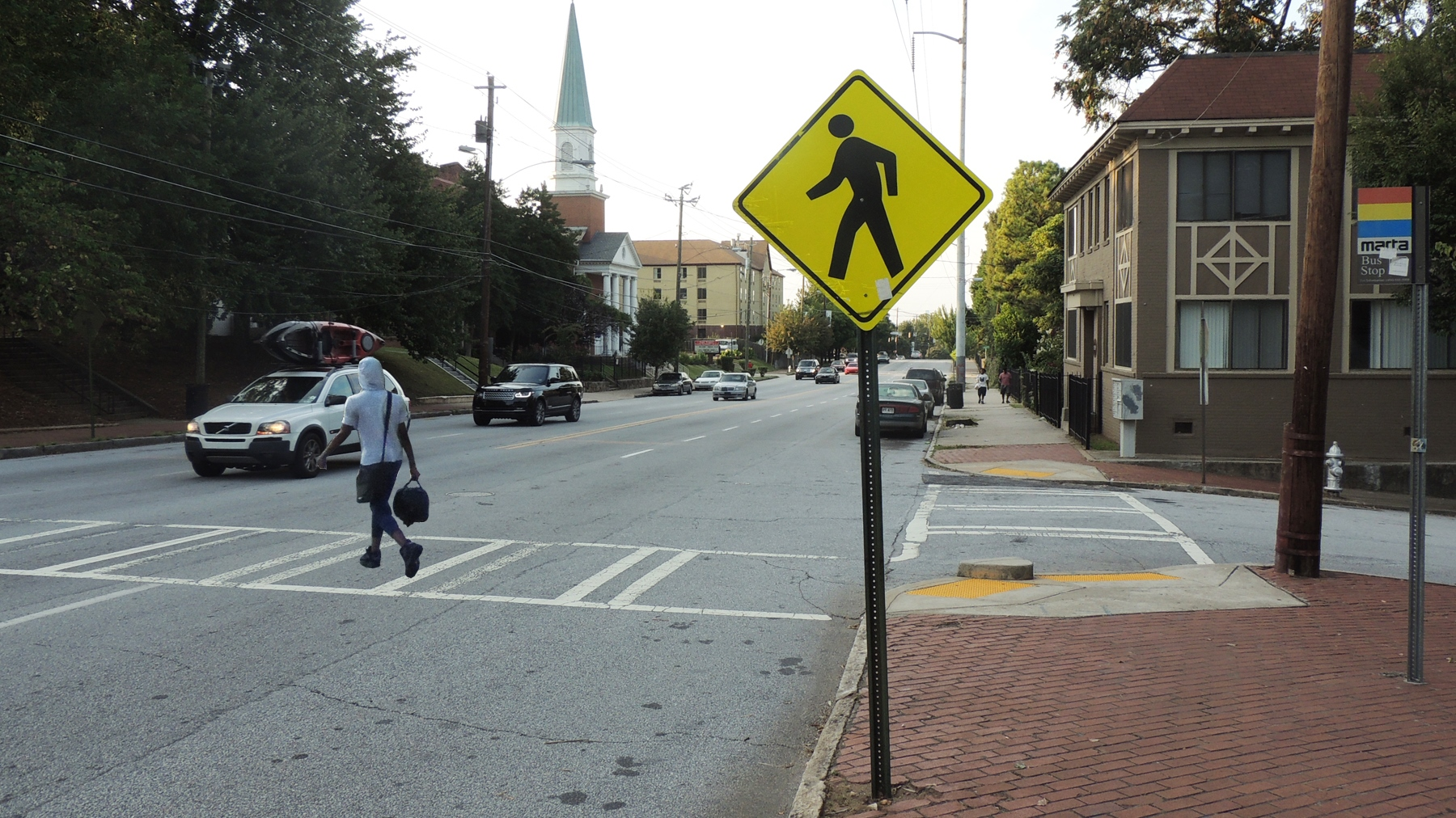 Surveying road conditions on foot - PEDS
