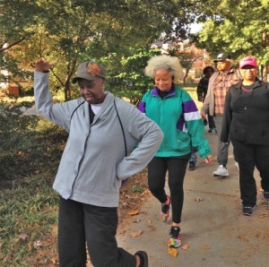 Group walk in Old Fourth Ward