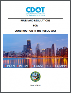 Chicago Rules and Regulations for Construction in Publiic Way