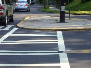 Atlanta failed to install curb ramps at Monroe Drive & Park Dr intersection